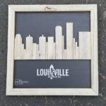 Reclaimed Wood Skyline Artwork   Louisville Kentucky