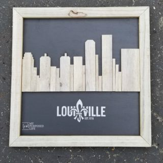 Reclaimed Wood Skyline Artwork | Louisville Kentucky