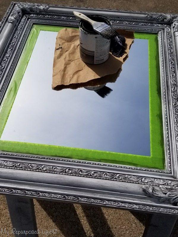 brush glaze on wipe glaze off ornate frame