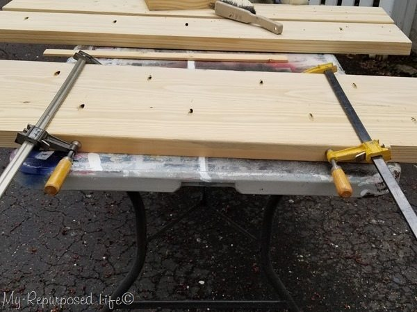 clamp table top and secure with pocket hole screws[3]
