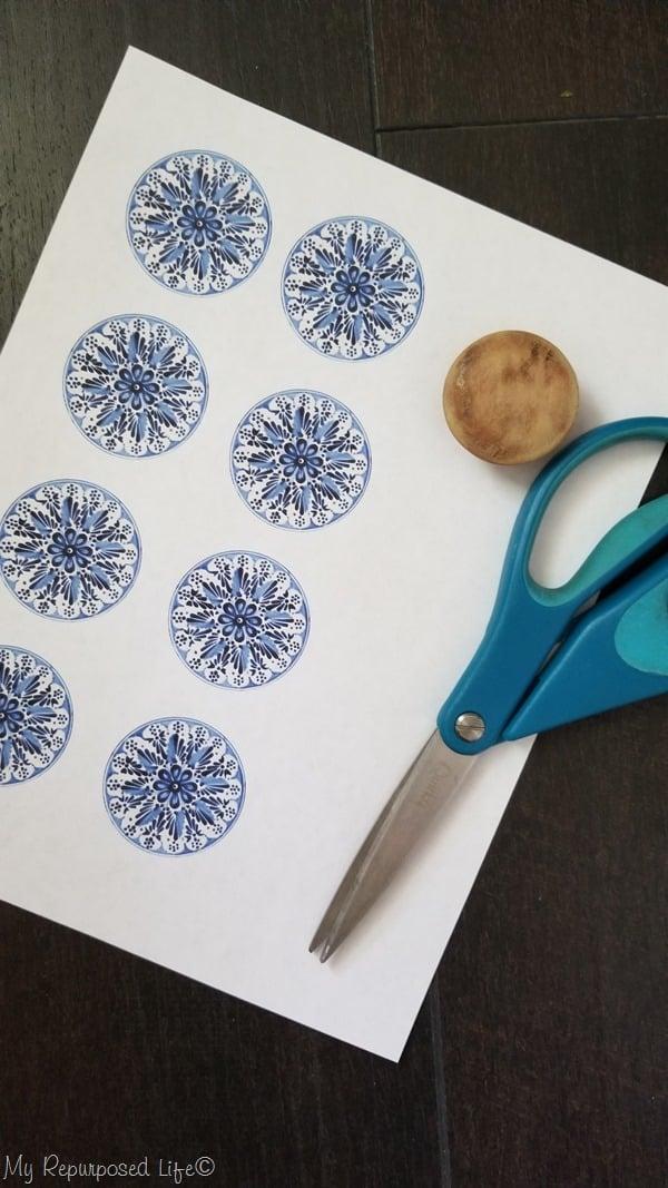 decoupage images for wooden dresser knobs