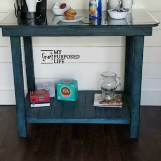 Pallet Board Table – Sofa Table – Coffee Bar – Outdoor Serving Bar