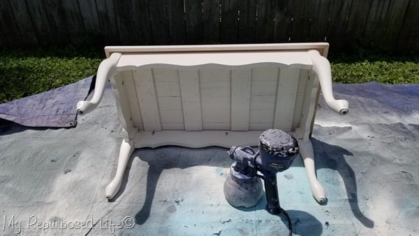 paint underneath of coffee table