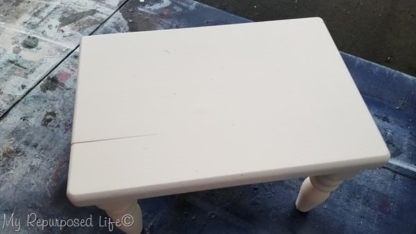 painted small stool makeover