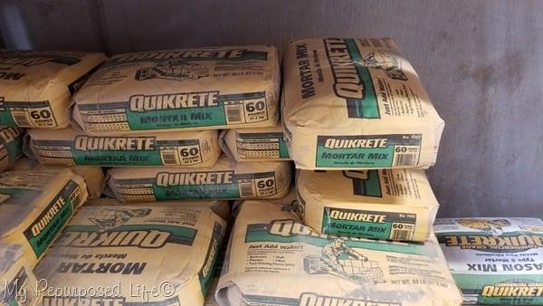 quikrete mortar mix at Home Depot