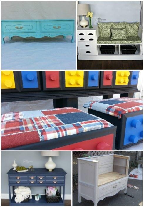 repurpose furniture dresser ideas