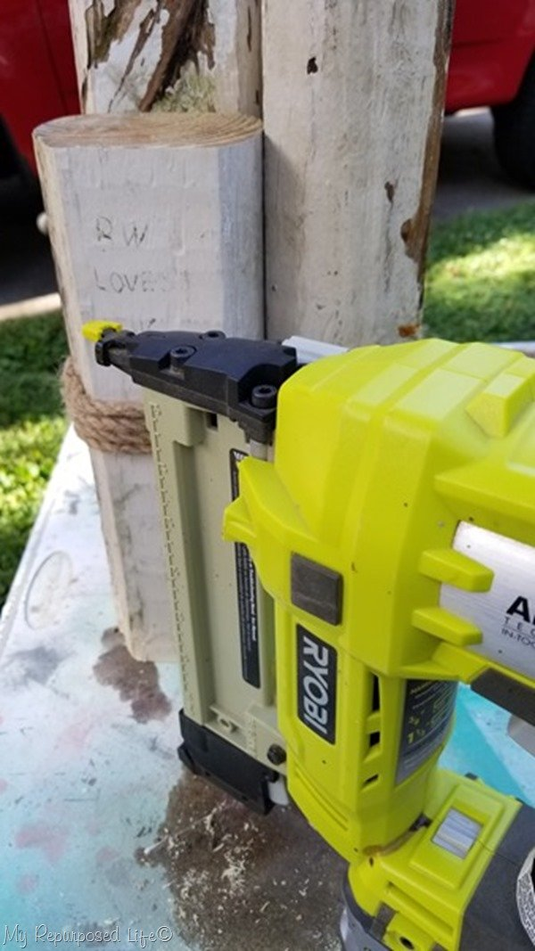 secure rope with staple gun