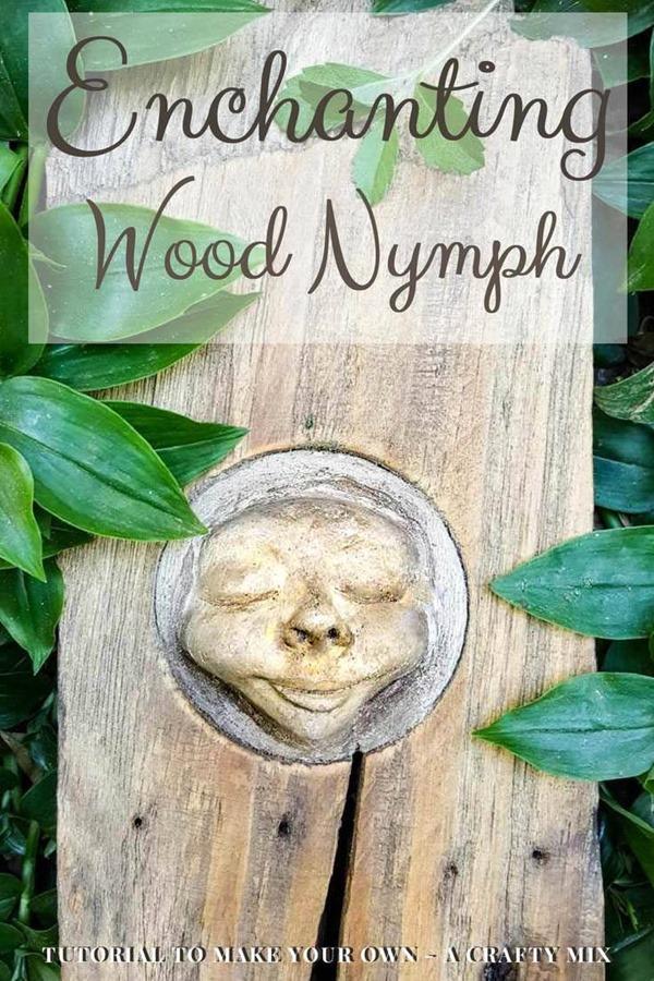wood nymph garden decor