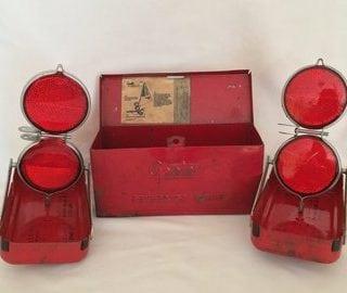 Vintage roadside emergency lights
