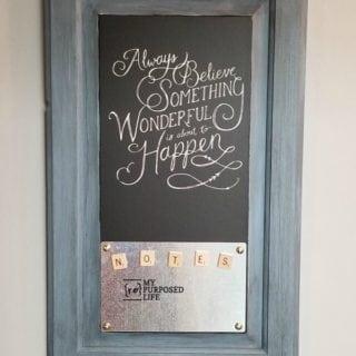 Cabinet Door Chalkboard Magnetic Memo Board