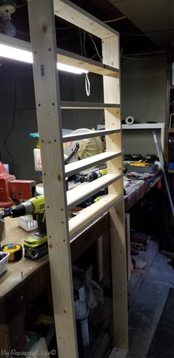 add shelves to craft paint shelf