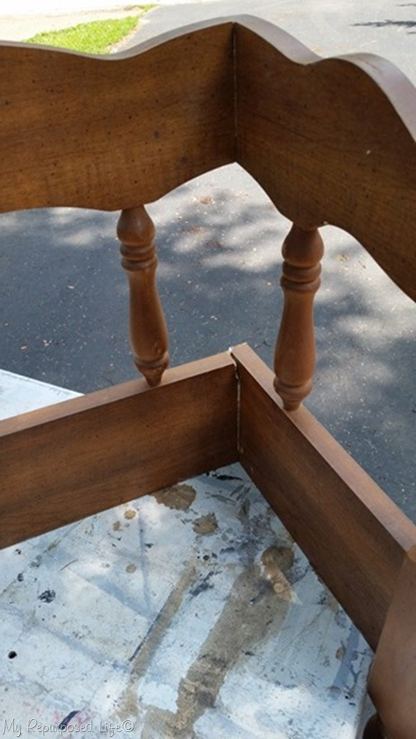 attach bench side to the back with wood screws