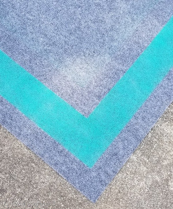 Spray Painted Outdoor Rug For Camper Or Rv My Repurposed