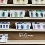 Craft Paint Shelf Floor to Ceiling