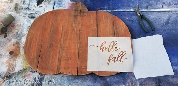 hello fall contact paper stencil for silhouette
