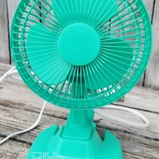 Customized Plastic Fan | Easy Spray Paint Project