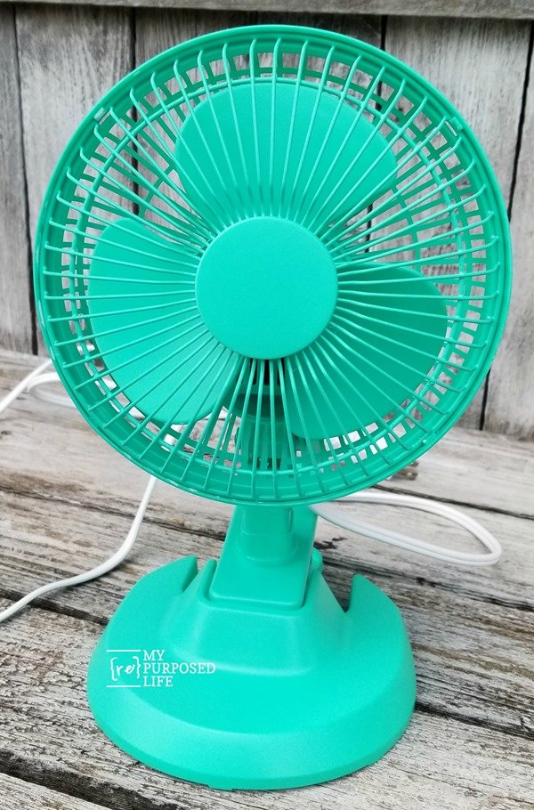 spray paint cheap plastic fan sea glass MyRepurposedLife