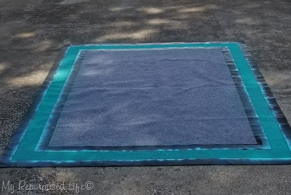 spray paint outdoor rug