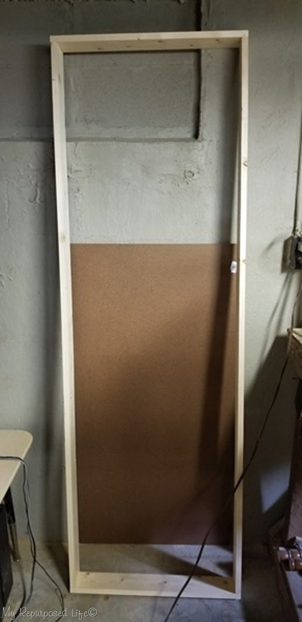 test fit of craft paint shelf