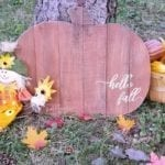 Hello Fall Rustic Pumpkin Sign