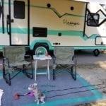 Glazed TV Tables for Camper