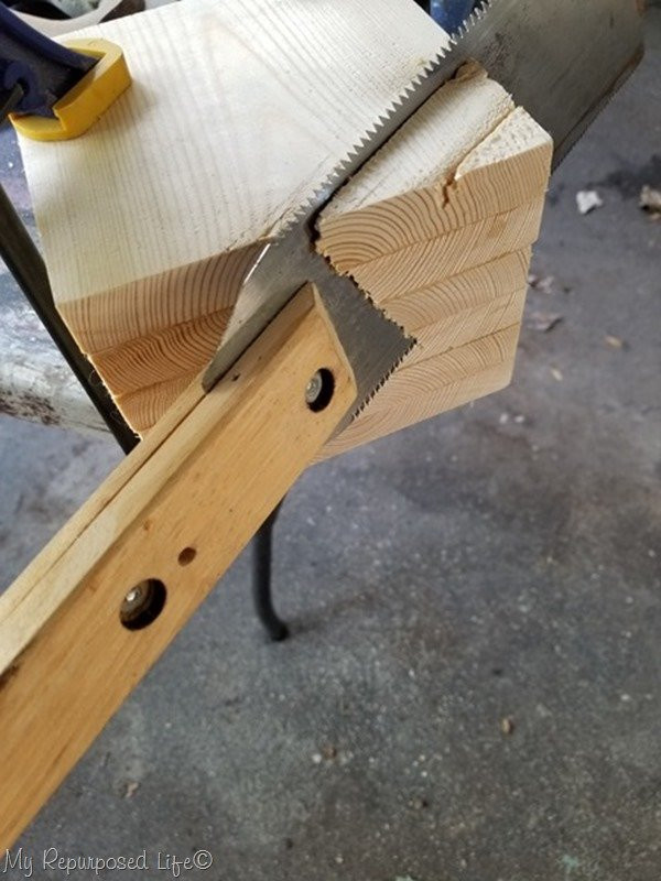 continue to use flush cut saw on an angle