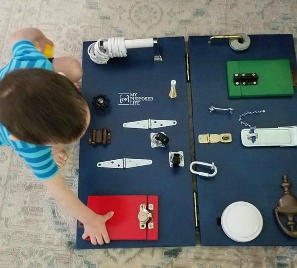 diy toddler busy board MyRepurposedLife