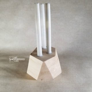 Geometric Candle Holder made from Scrap Wood