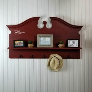 headboard shelf coat rack