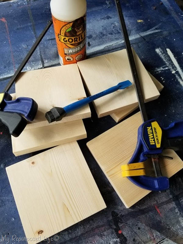 materials to make wooden geometric candle holder