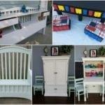 Kids Organization Ideas using Repurposed Furniture