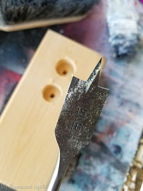 test drill holes
