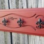 Repurposed Drawer Hook Rack | Fleur-de-Lis