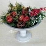 Pedestal Bowl | Stipple Paint Technique