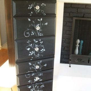 repurposed desk into lingerie chest