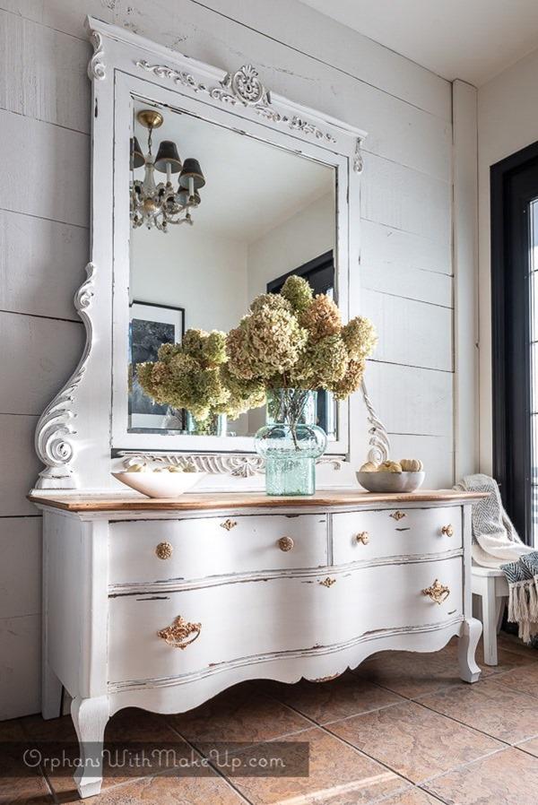 the victorian dresser-how to clean brass hardware