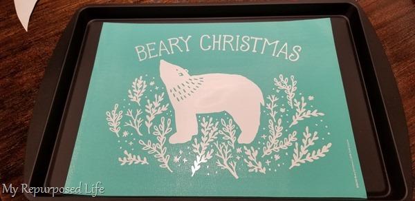 beary Christmas chalk transfer