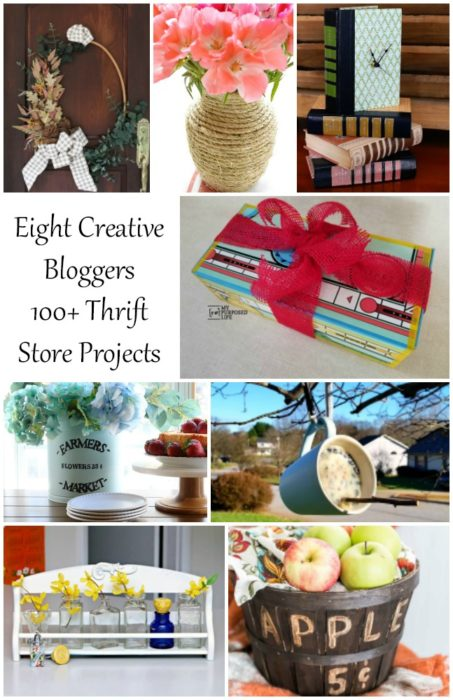 eight creative bloggers 100+ thrift store projects