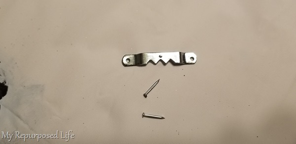 sawtooth hanger and nails