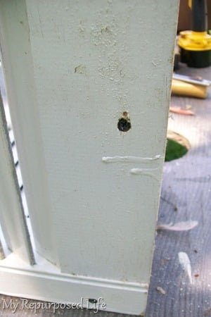two inch screws attach support brackets-crib rails