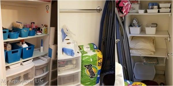 bathroom linen closet storage