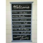 Repurposed Crib Rail Menu Board