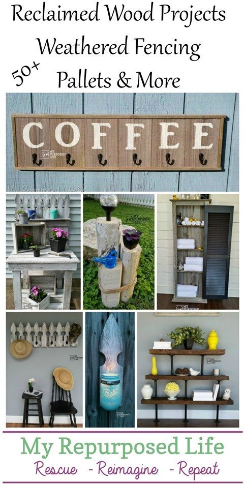 reclaimed wood projects weathered fencing pallets and more MyRepurposedLife