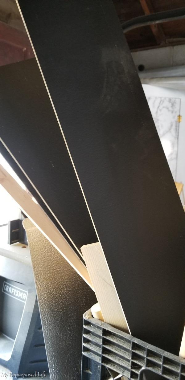 scrap chalkboard plywood pieces