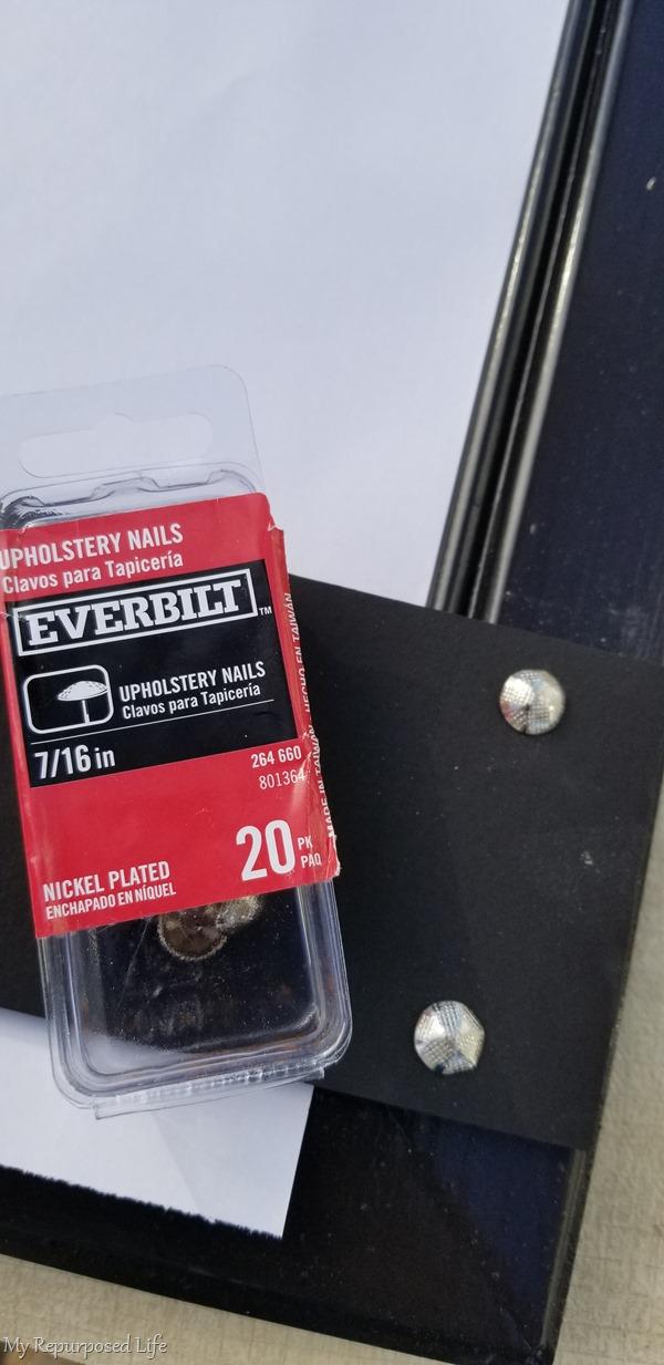 thumbtacks attach guides for craft paper disenser