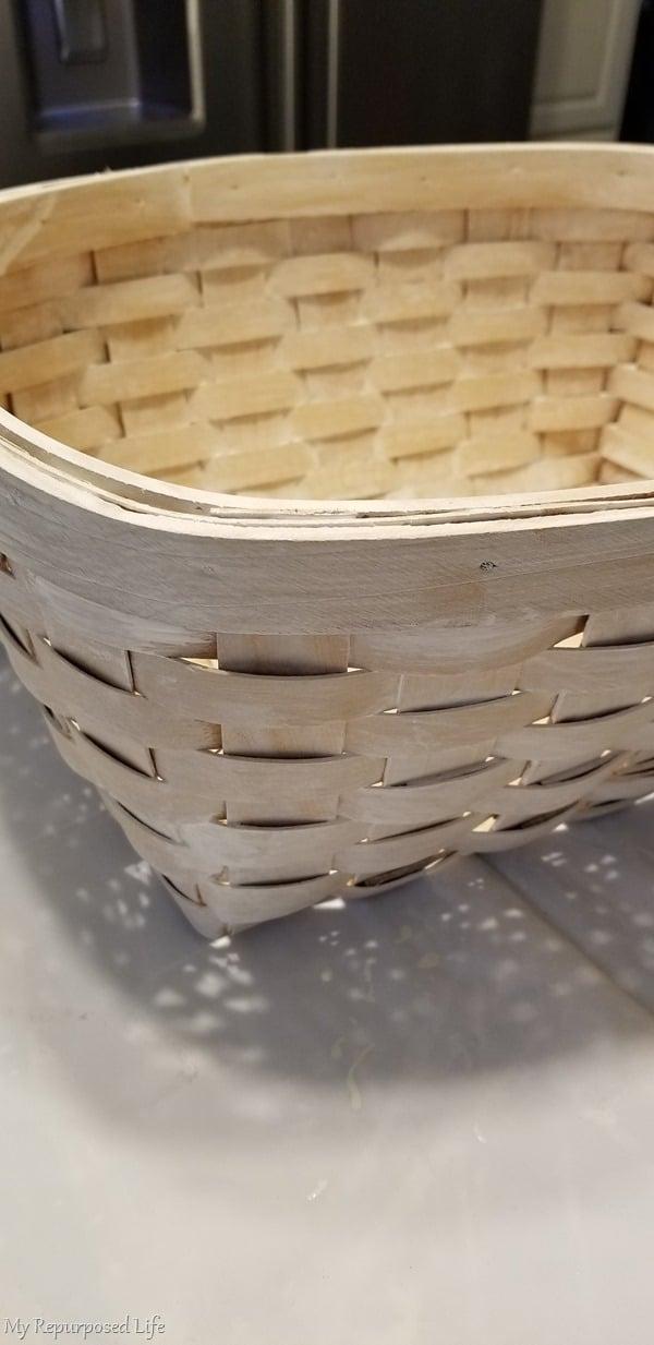 woven basket makeover primer paint