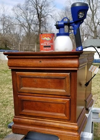 Super Finish Max paints nightstands