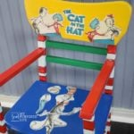 Dr. Seuss chair Cat in the Hat Decoupage