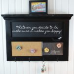 Chalkboard Key Rack | Wall Organizer