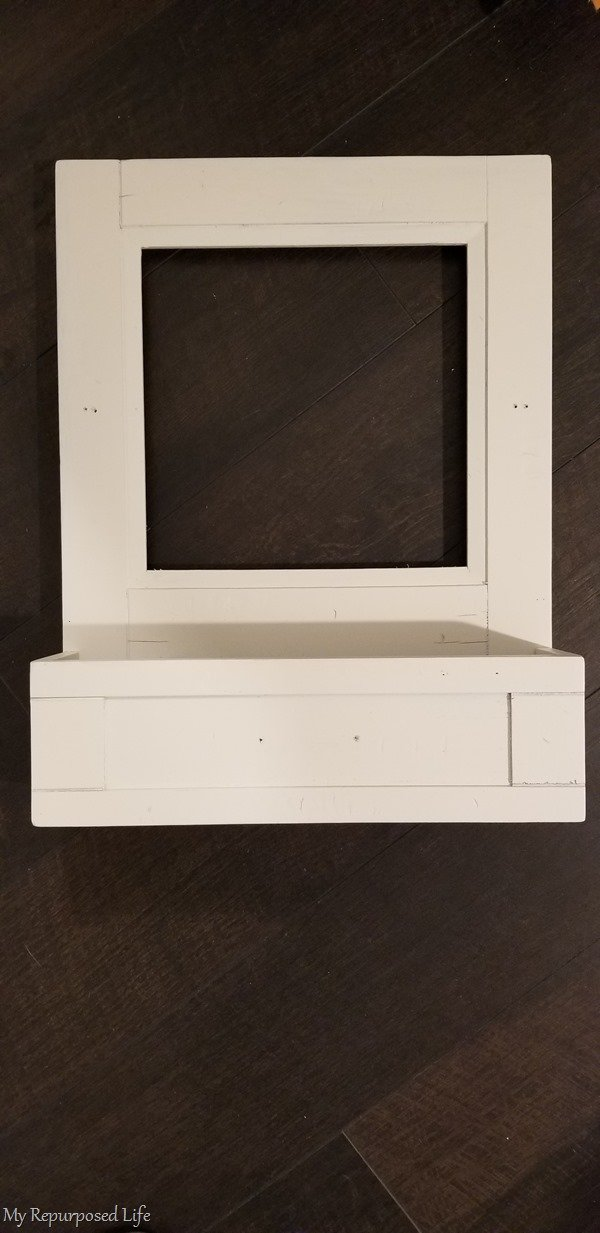 painted pottery barn rustic mirror cabinet